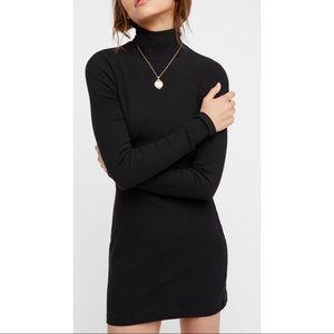 Free People Black Turtleneck Dress, Size Small